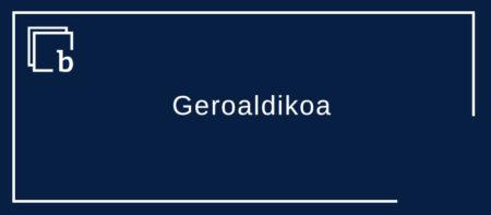 Aditz partizipioa (III) – Geroaldikoa