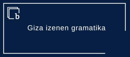 Giza izenen gramatika