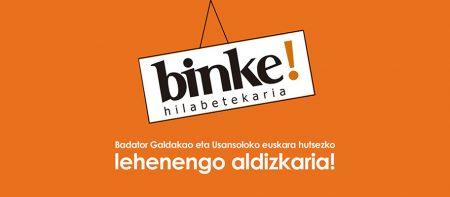 Binke! aldizkari barria Galdakao