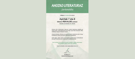 Jardunaldia ahozko literaturaz