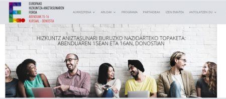 Europako hizkuntza-aniztasunaren foroa Donostian abenduan