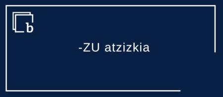 -ZU atzizkia izen eta beste kategoria batzuetan