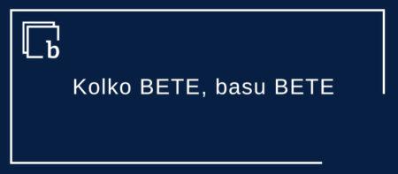 Kolko BETE, arra BETE, basu BETE, esku biak BETE leku-neurri eremuan
