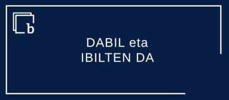 DABIL eta IBILTEN DA aditz egituren arteko lehia Trenez DABIL egunero ala Trenez IBILTEN DA egunero? (lehen idazketa)