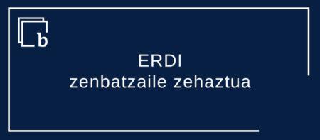 ERDI, zenbatzaile zehaztuen kategoriako danean