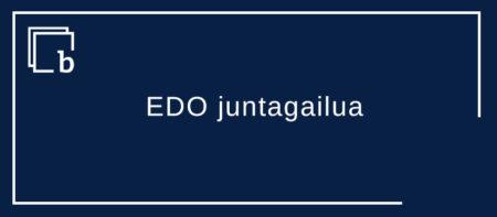 EDO juntagailuaz ohar batzuk