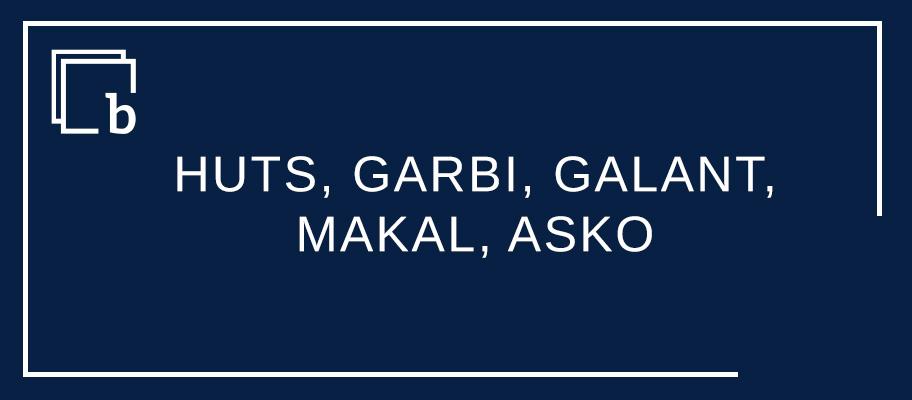 Adjektibo graduatzaileak HUTS, GARBI, GALANT, MAKAL, ASKO eta beste
