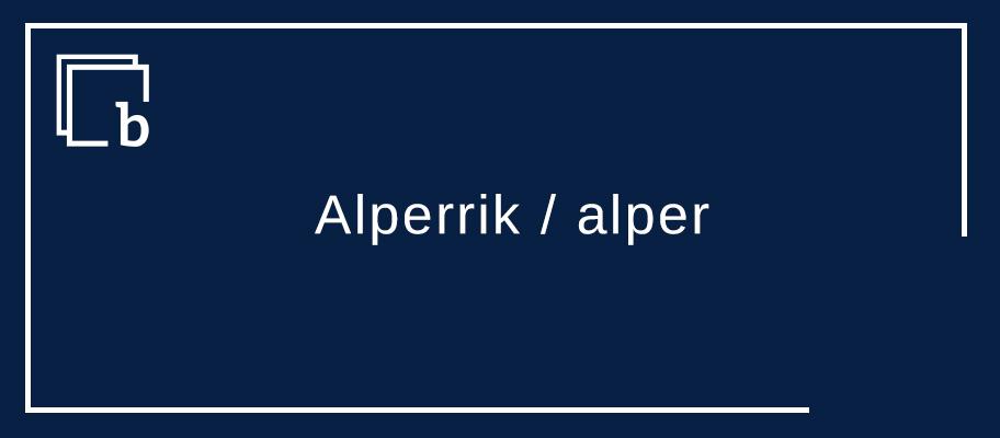 Alperrik / alper aurre-marka kontzesiboa