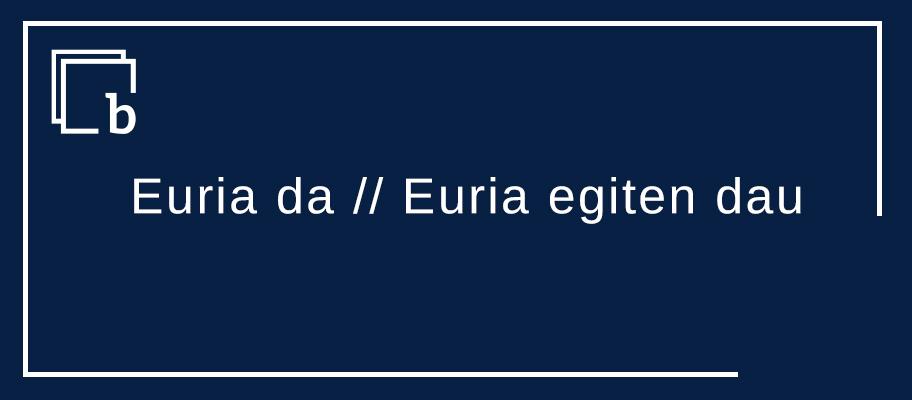 Euria da // Euria egiten dau