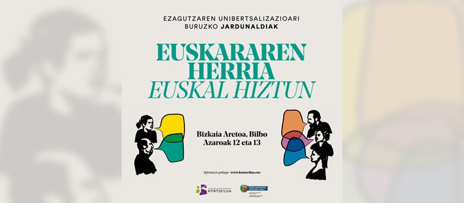 'Euskararen herria Euskal hiztun' jardunaldiak Bilbon