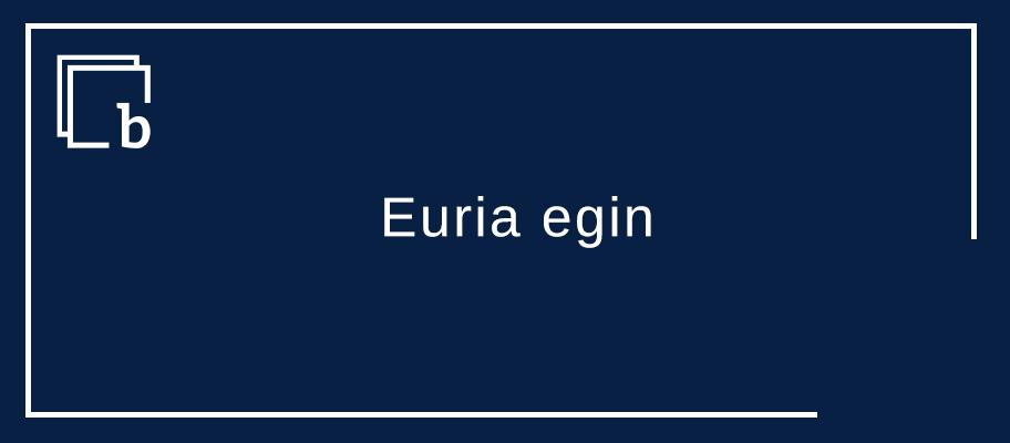 Euritara joko dau / Euria egingo dau