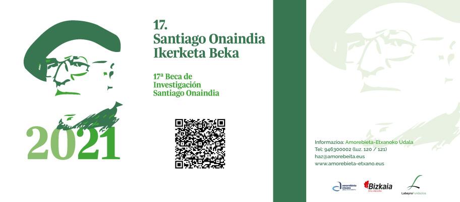 Santiago Onaindia literatur ikerketarako beka deialdia